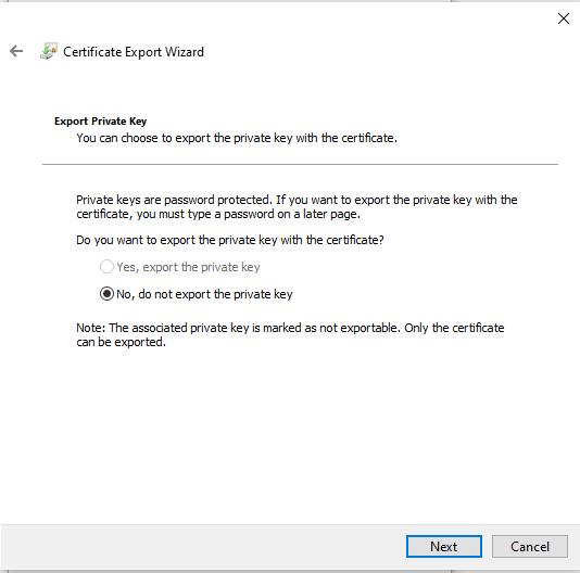 Exportar Certificado Digital sin clave
